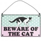 'Beware Of The Cat' Sign