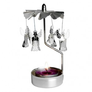 Angels Spinning T-Light Holder