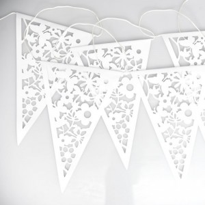 White Lace Paper Bunting