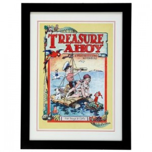 Framed 'Treasure Ahoy' Print
