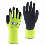 With Garden Microfinish Gloves – Yellow Medium